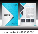 blue cover design  annual... | Shutterstock .eps vector #439995658