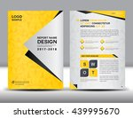 yellow cover annual report... | Shutterstock .eps vector #439995670