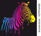 vector rainbow zebra  abstract...   Shutterstock .eps vector #439996408