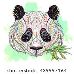 Patterned Head Of Panda On The...
