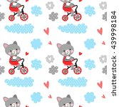 vector seamless pattern with... | Shutterstock .eps vector #439998184