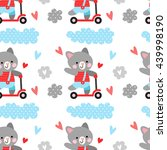 vector seamless pattern with... | Shutterstock .eps vector #439998190