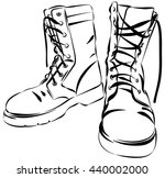 old army boots. military... | Shutterstock .eps vector #440002000