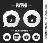 crumpled paper speech bubble....   Shutterstock .eps vector #440002480