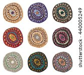 hand drawn colorful indian art... | Shutterstock .eps vector #440005249