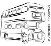 london bus vector drawing... | Shutterstock .eps vector #440009608