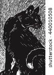 vector cat illustration made in ... | Shutterstock .eps vector #440010508