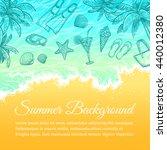 summer sea background. hand... | Shutterstock .eps vector #440012380