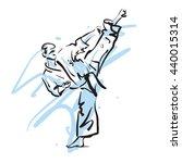 karate kick  vector illustration   Shutterstock .eps vector #440015314