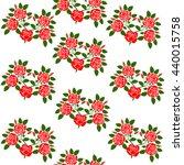 bouquets of roses in a pattern | Shutterstock .eps vector #440015758