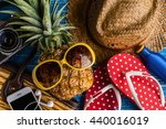 Summer Concept With Pineapple...