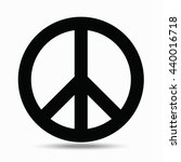 symbols pacifism. illustration... | Shutterstock . vector #440016718