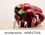 miniature painters coloring... | Shutterstock . vector #440017318