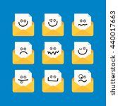 set of mail notice with smiley... | Shutterstock .eps vector #440017663