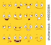 cartoon faces with different... | Shutterstock .eps vector #440020384