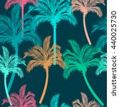 leaves of palm tree. seamless... | Shutterstock .eps vector #440025730