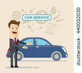 car service concept with flat... | Shutterstock .eps vector #440032030