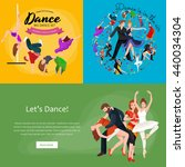 dancing people young man and... | Shutterstock .eps vector #440034304