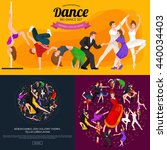 dancing people young man and...   Shutterstock .eps vector #440034403