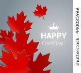 happy canada day vector... | Shutterstock .eps vector #440035966