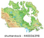high detailed canada physical... | Shutterstock .eps vector #440036398