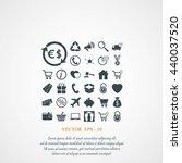 shopping icons | Shutterstock .eps vector #440037520