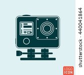 action camera icon isolated....