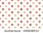 Watercolor Dots In Brown  Pink...