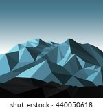 snow mountains peak banner.... | Shutterstock . vector #440050618