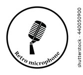 old microphone icon. thin... | Shutterstock .eps vector #440050900