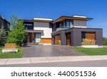 luxury house at sunny day in... | Shutterstock . vector #440051536