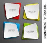 design shape origami vector... | Shutterstock .eps vector #440056186