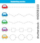 handwriting practice sheet.... | Shutterstock .eps vector #440058103