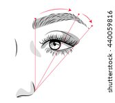 eyebrow scheme. beauty... | Shutterstock . vector #440059816