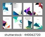 geometric cover background ...   Shutterstock .eps vector #440062720