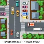 top view of urban    Shutterstock . vector #440065900