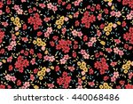 seamless flower pattern. vector ...   Shutterstock .eps vector #440068486
