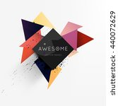 geometric vector background.... | Shutterstock .eps vector #440072629