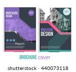 set of vector brochure cover... | Shutterstock .eps vector #440073118
