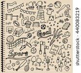various sport illustrations | Shutterstock .eps vector #440083219