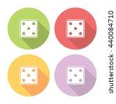 dice cube flat style design...