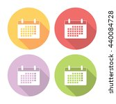calendar schedule page flat...
