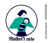 a mother's care. the symbol of... | Shutterstock .eps vector #440085688
