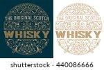 whisky retro label | Shutterstock .eps vector #440086666