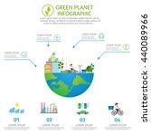 ecology infographic vector... | Shutterstock .eps vector #440089966