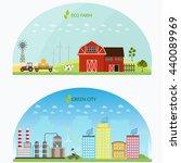 big set of vector farm elements ... | Shutterstock .eps vector #440089969