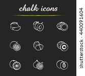 Fruit Pairs Icons Set. Mango...