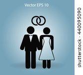 marriage vector icon | Shutterstock .eps vector #440095090