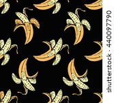 seamless fruit pattern with... | Shutterstock .eps vector #440097790