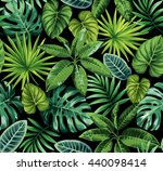 tropical seamless pattern with... | Shutterstock .eps vector #440098414